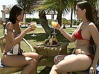 Outdoor lesbian scene