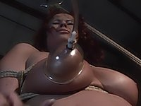 Katy Parker in rope bondage