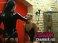Femdom with female and male slaves