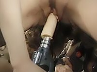 Lesbos fuck each other with a dildo