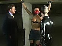 Two guys enjoy their sex slave