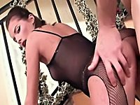 Fishnet princess gets fucked
