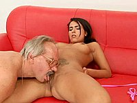 Teen chica and older man