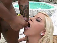 Laura King enjoys black cock