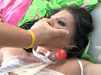 Kendra Secret's Gagged Mouthful Of Cum