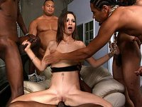 Five black cocks