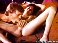 Retro gay blowjob