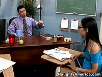 Girl takes teacher's cock