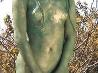 She's a statue