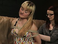 Chastity Valentine hog-tied trailer 47