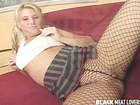Hardcore sex in fishnets