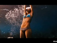 Sexy diver Jessica Alba