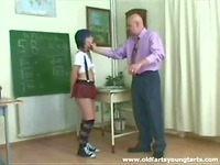 Schoolgirl fucked by aged teacher