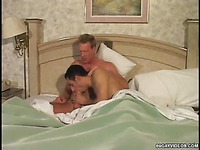Gay friends sucking in bed
