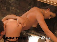 MILF Stephanie Swift gets hardcored in the kitchen