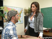 Student fucks busty professor Diamond Foxxx