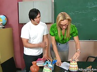 Teacher Tanya Tate and student fuck like crazy