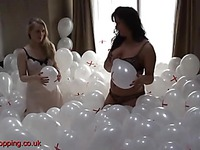 Girls in underwear love balloons