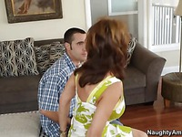 Busty cougar Deauxma enjoys a cock