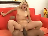 Blonde slut riding 2